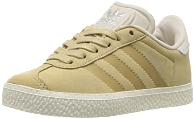 separation shoes 18a13 02e5a adidas Originals Boys Gazelle Fashion C Sneaker Linen Khaki Bliss Chalk 1  M US Little