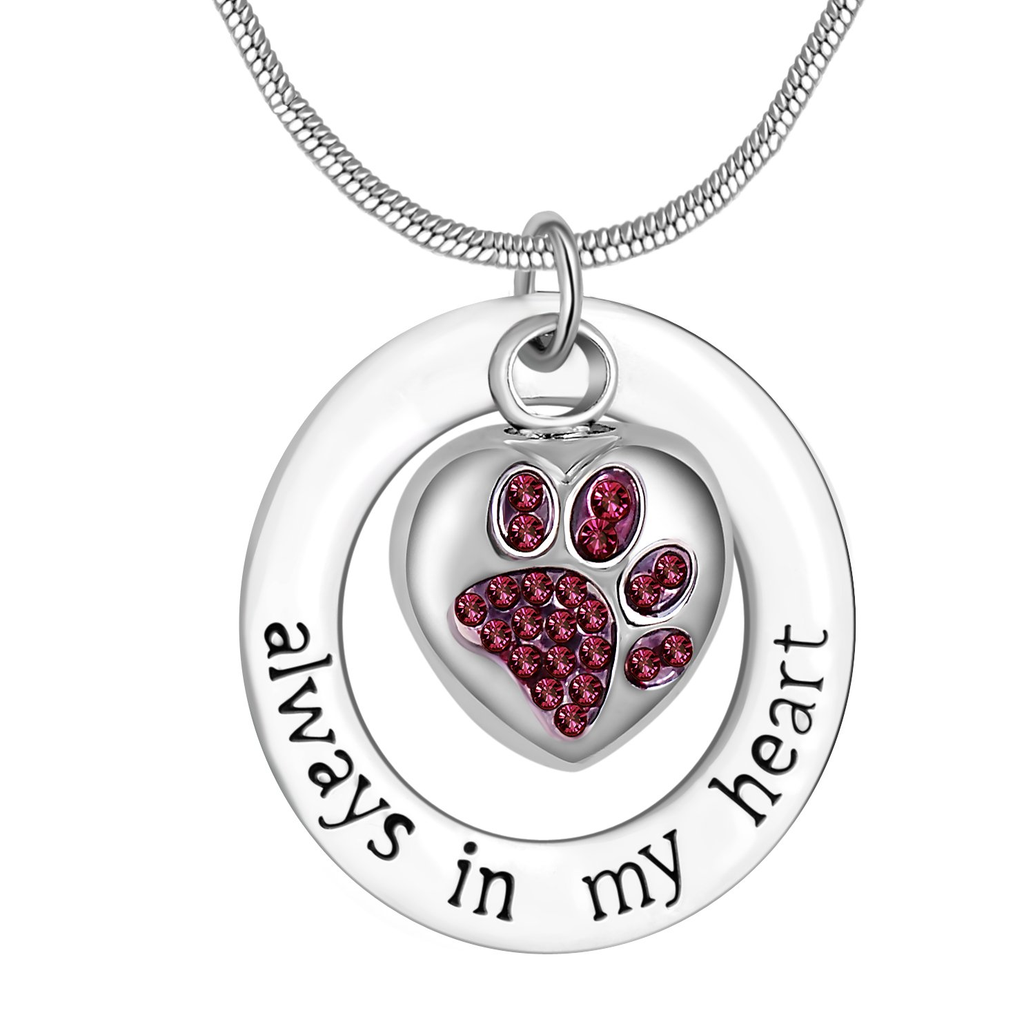 Pet Always in My Heart Ashes Urn Necklace Keepsake ...