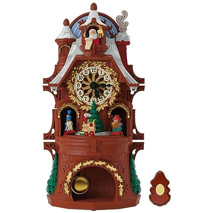 hallmark santas musical christmas clock with motion and light - Musical Christmas Clock