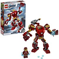 LEGO Marvel Avengers Iron Man Mech 76140 Kids' Superhero Mech Figure, Building Toy with Iron Man Mech and Minifigure