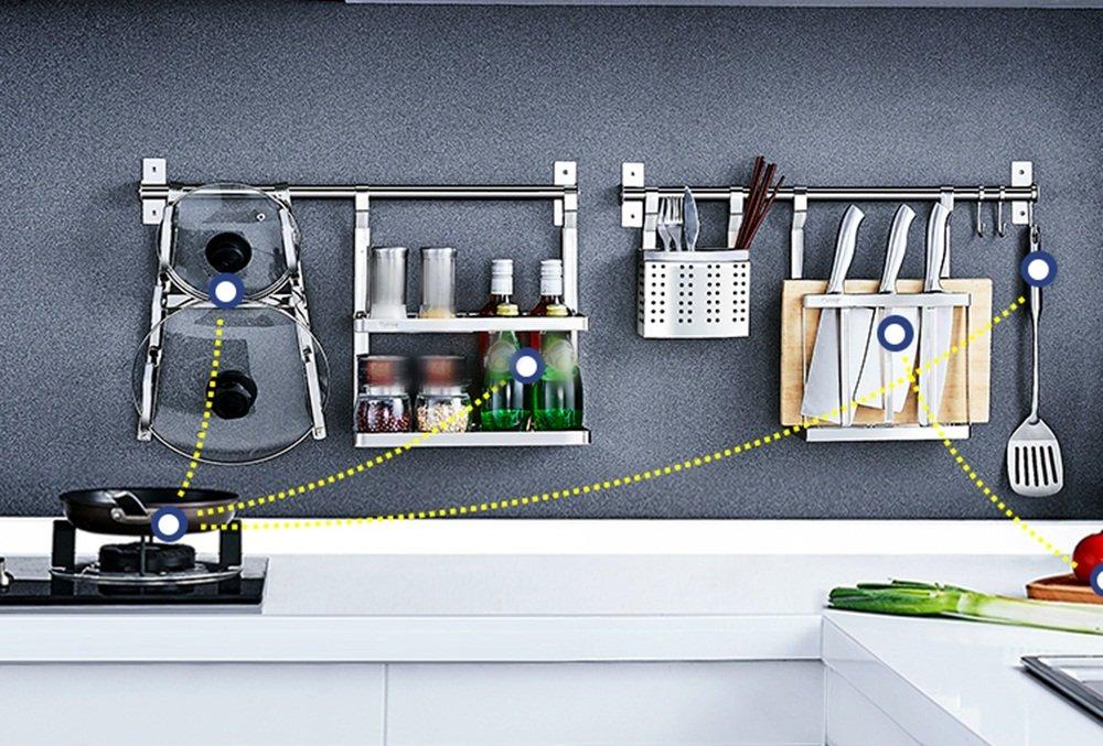 Racks de cuisine en acier inoxydable Porte-bagages de drainage Porte-bagages ( style : D )