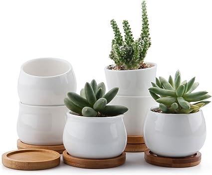 2 Pack 4/'/' Kawaii Flower Pot Girl Succulent Planter Cactus Plants Flower Pots