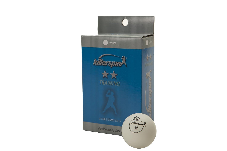 Killerspin 2-starトレーニングテーブルテニスボール、6パック(ホワイト) B001LK8UJQ
