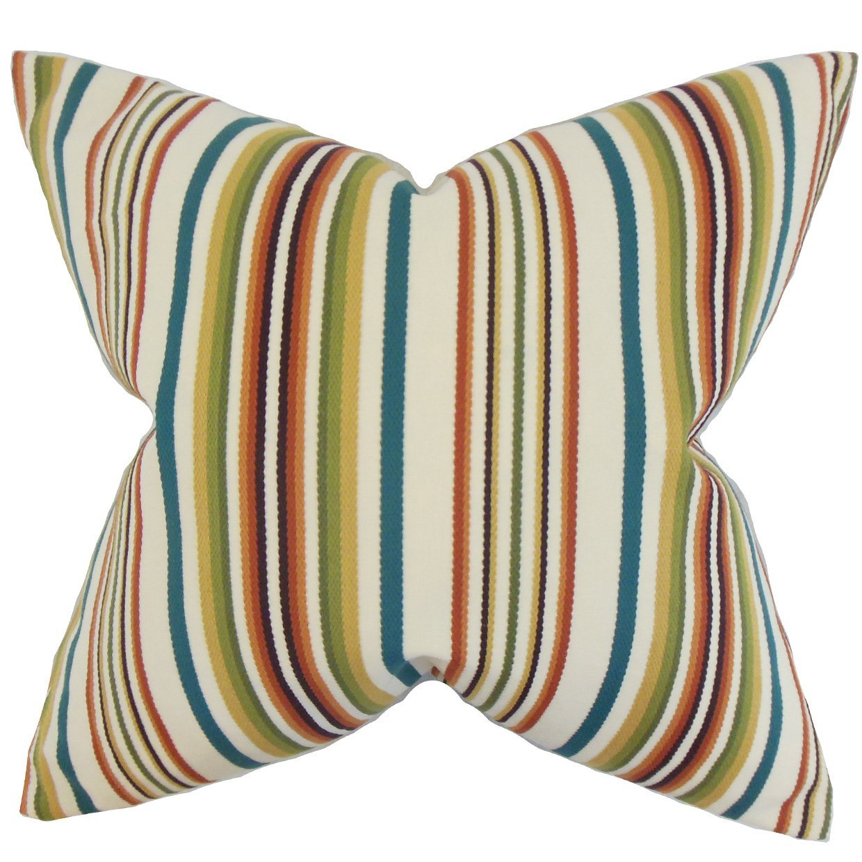 The Pillow Collection Magaidh Stripes Bedding Sham Multi European//26 x 26 Multicolor