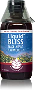WishGarden Herbs Liquid Bliss - Mood Support Supplement, Natural Mood Booster and Stabilizer Tincture with Liquid Passion Flower Extract and Damiana (4 oz Jigger)