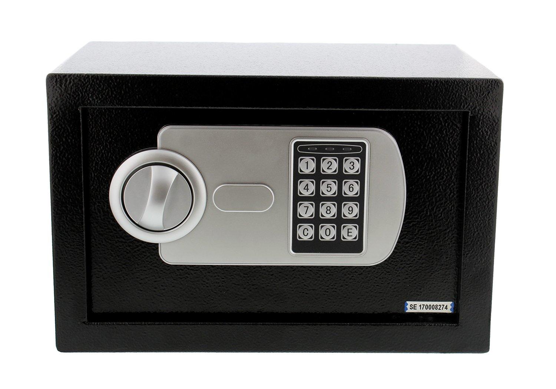 "Electronic Safe Box with Combination & Emergency Key, 12"" x 8"" x 8"" Inches – Electronics/Handgun Lock Box Home Storage"