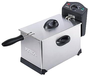 KREA DF300 - Freidora (Freidora, 3 L, 3 L, 130 °C, 190 °C, Solo): Amazon.es: Hogar