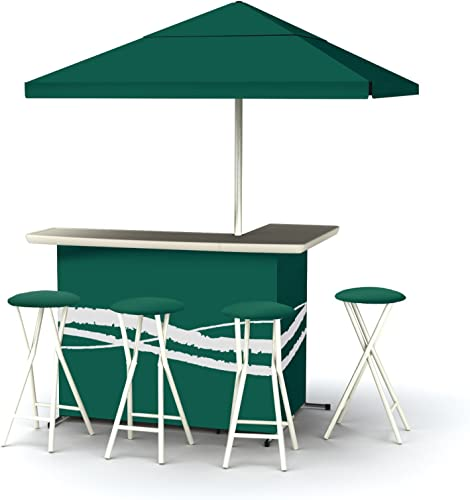 Best of Times Patio Bar and Tailgating Center Deluxe Package- Classic Green