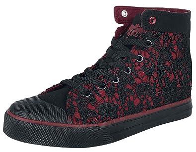 4060c9c8b6486c Black Premium by EMP Walk The Line Sneaker high schwarz rot  Amazon ...