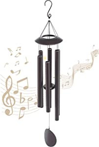 Craft Hero Wind Chimes for Outside Deep Tone – Large Wind Chimes with 6 Heavy Tubes – Premium Heavy-Duty Bronze Construction – Adjustable Bell Length – Ideal for Garden, Outdoor, Home Decor