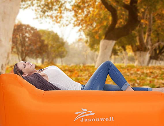 jasonwell inflable tumbona Blow Up silla de aire sofá portátil