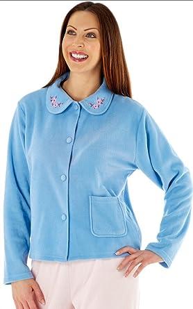 88866f30595 Lady Selena Soft Fleece Warm Traditional Button Bed Jacket LN471 ...