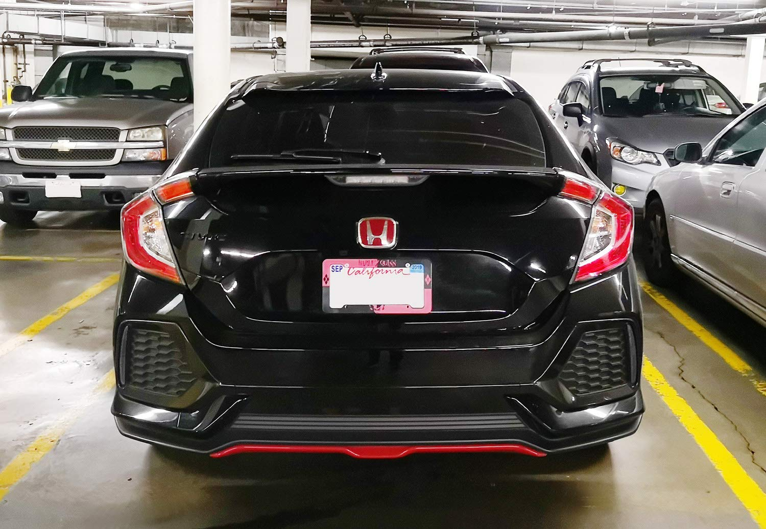iJDMTOY Smoked Rear Bumper Reflector Lens Replacement For 2017-up Honda Civic Hatchback SI or Type-R Sedan OE-Spec LH RH Assembly