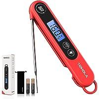 Keukenthermometer, digitaal, direct aflezen, 2S, met lange sonde, vleesthermometer, LCD-display met…