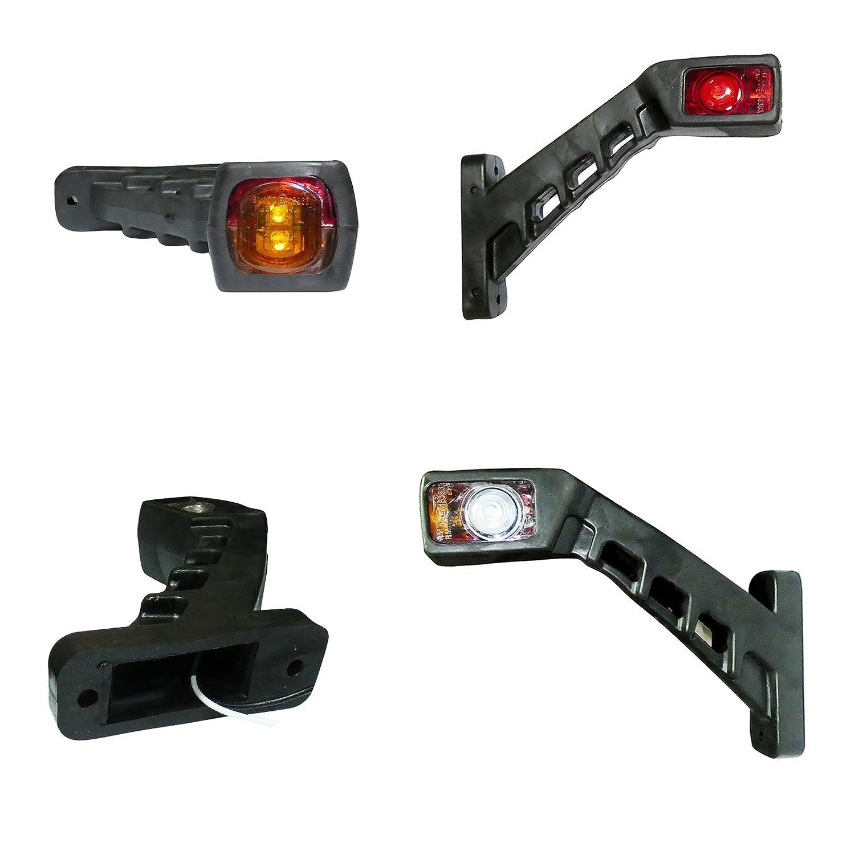 2x LED Umrissleuchte Positionsleuchte Begrenzungsleuchten Markierungsleuchte f/ür LKW und Anh/änger Leuchten SCHR/ÄG Seitenmarkierungsleuchten 12V 24V