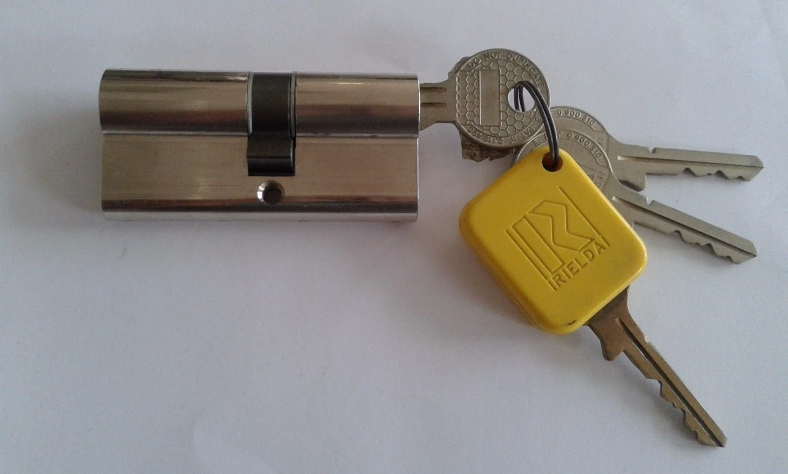 RIELDA 1200S (Italy)High Security Reprogrammable Cylinder Lock With 3 +1 Keys (31/40, Nickel)