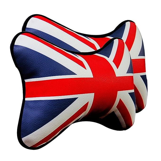 Amazon.com: mavota 2 piezas Union Jack piel Artificial ...