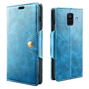 RIFFUE Funda Galaxy A6 2018, Samsung A 6 2018 Carcasa Libro ...
