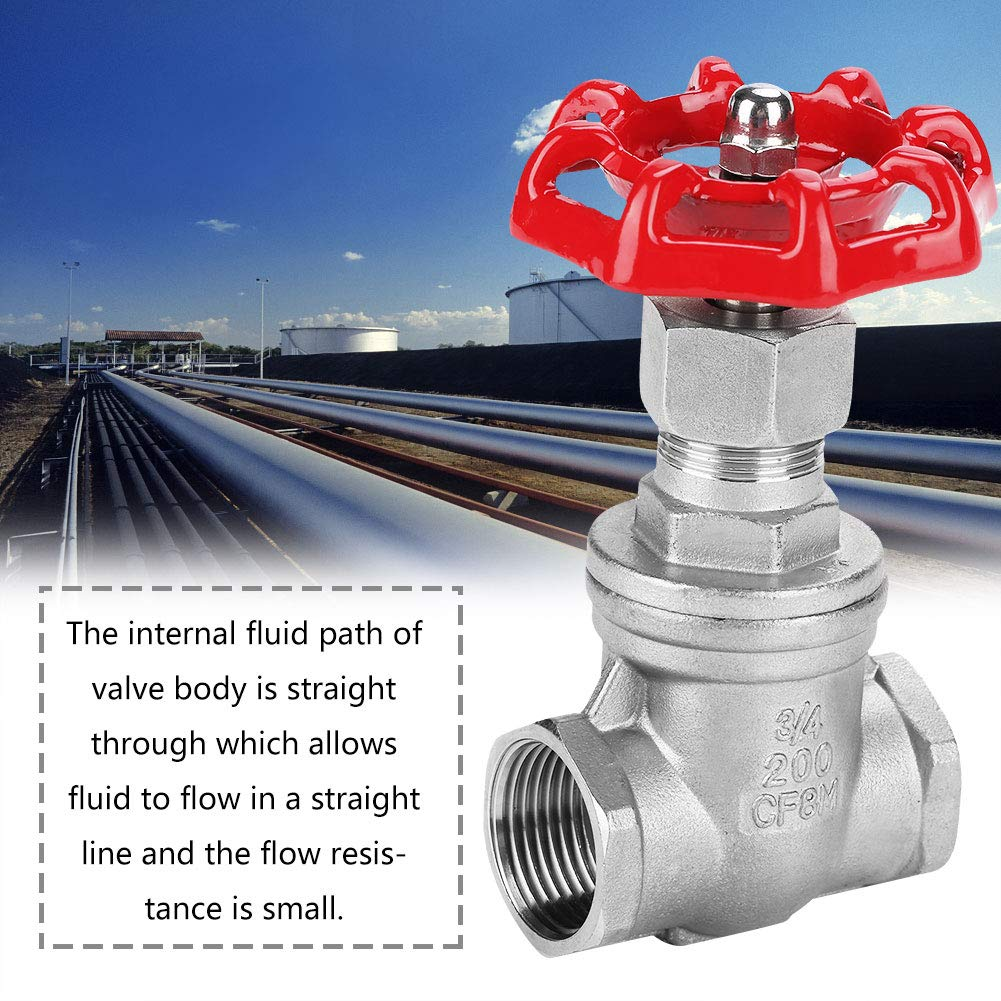 DN20 Handle Gate Valve Stainless Steel Gate Valve BSPP G3//4 Rotary Sluice Valve for Water Oil Gas Water Gate Valve Stainless Steel Valve
