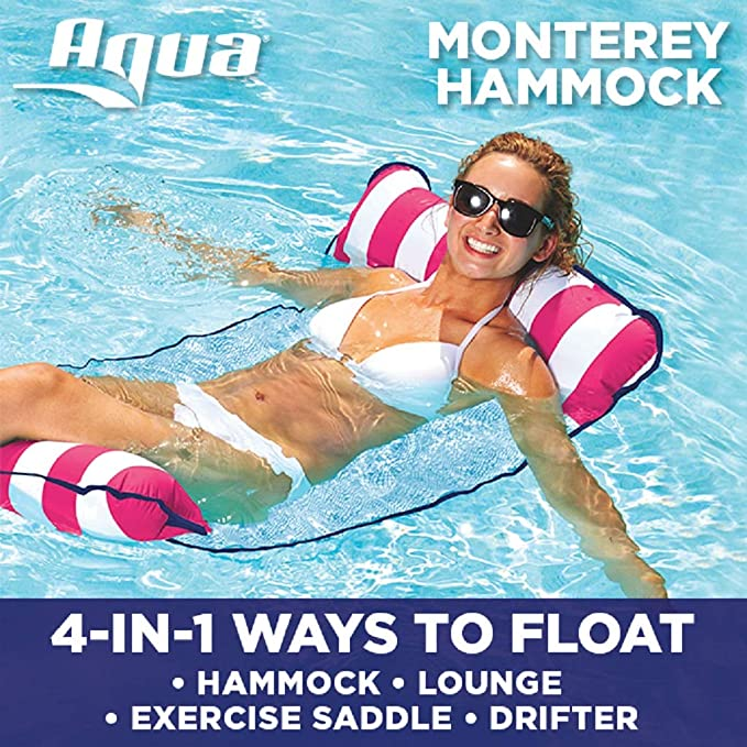 The Aqua Monterey 4-in-1 Multi-Purpose Inflatable Hammock travel product recommended by Erin Peters on Lifney.