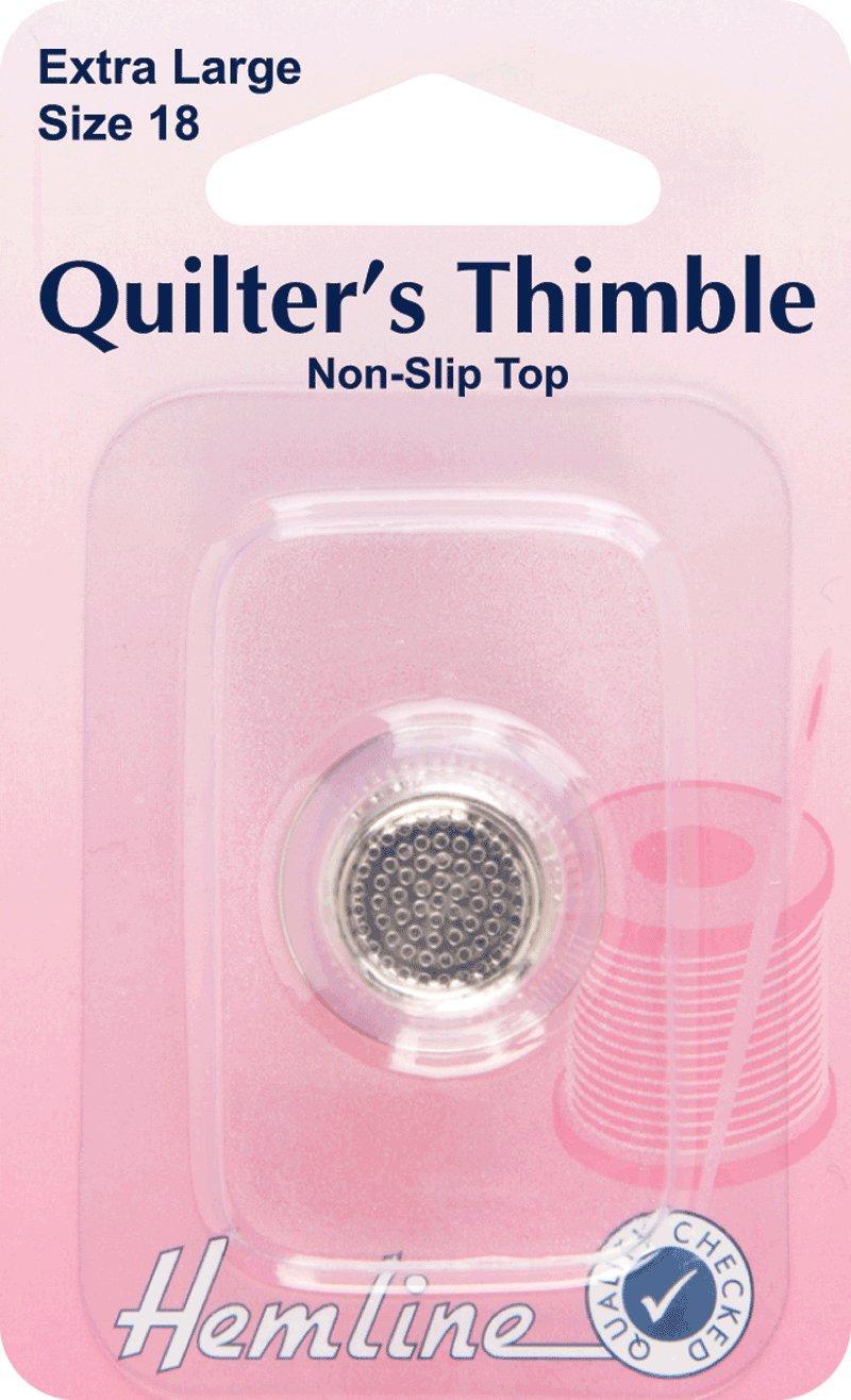 Hemline H300.XL   Premium Quality Quilter's Thimble   Size 18 Groves