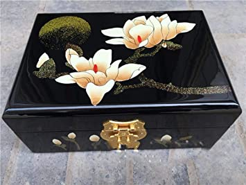 Caja de Joyas de Laca Pingyao Regalo de Boda Caja de Dulces de Boda Artesanías Pintadas a Mano de China, Caja de Joyería de Alta Gama: Amazon.es: Deportes y ...