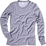 Bella Ladies' Long-sleeve Thermal Tee in Granite - XX-Large