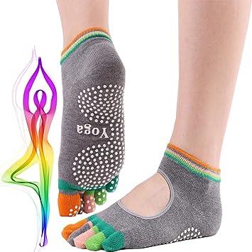 Calcetines Yoga Antideslizante Silicona Gránulos para Barre ...