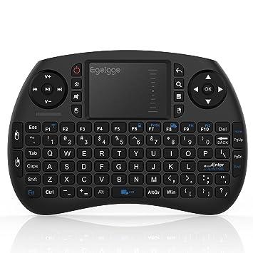 TICTID 2.4GHz Mini Teclado inalámbrico Touchpad ratón Compatible con Raspberry Pi Android Box,Google