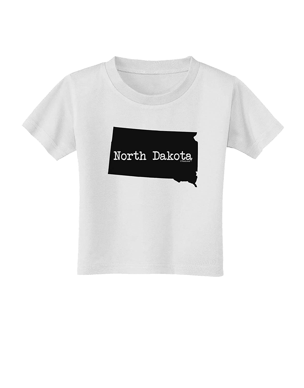 United States Shape Toddler T-Shirt TooLoud North Dakota
