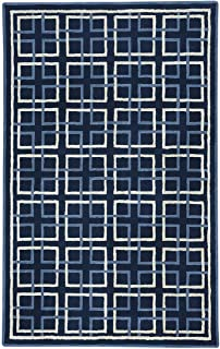"product image for Capel Framework Dk. Blue 5' 0"" x 8' 0"" Rectangle Hand Tufted Rug"