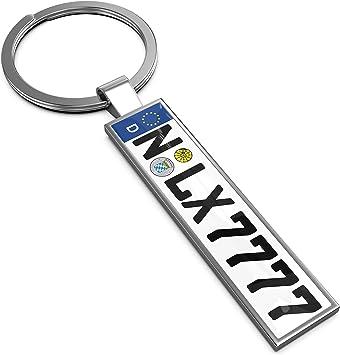 Lextrady Schlüsselanhänger In Premium Qualität Mit Kfz Kennzeichen Autoschilder Wunschkennzeichen Wunschtext Für Auto Nummernschild Geschenk Personalisiert Auto