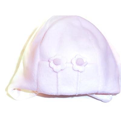Bébé fille fleur Bonnet en polaire couleur rose taille 12 mois ... 54dfac2bca3