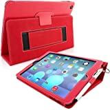 iPad Air Case & New 2017 iPad 9.7 inch Case, Snugg - Red Leather iPad Air (2013) & iPad (2017) 9.7 inch Smart Case Cover [Lifetime Guarantee] Protective Flip Stand Cover - Luxury Lightweight Design With Auto Wake / Sleep Function
