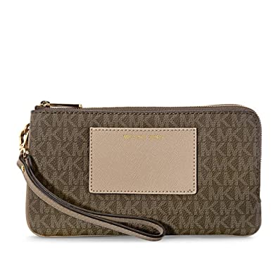 74fde40e1d4e Michael Michael Kors Bedford Signature Large Double Zip Wristlet: Handbags:  Amazon.com