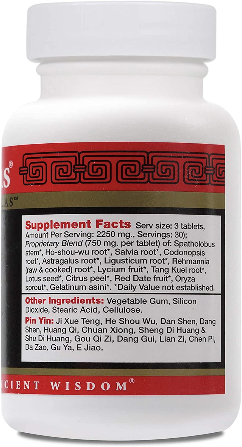 Health Concerns – Marrow Plus – Spatholobus Chinese Herbal Supplement – Blood and Bone Health Support – with Spatholobus Stem – 90 Tablets per Bottle
