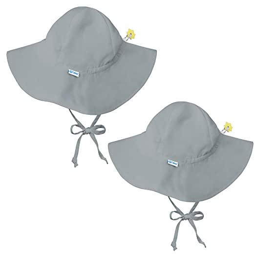 58fceb560 i play. 2 Pack UPF 50+ Sun Protection Wide Brim Baby and Toddler Sun Hats  Grey