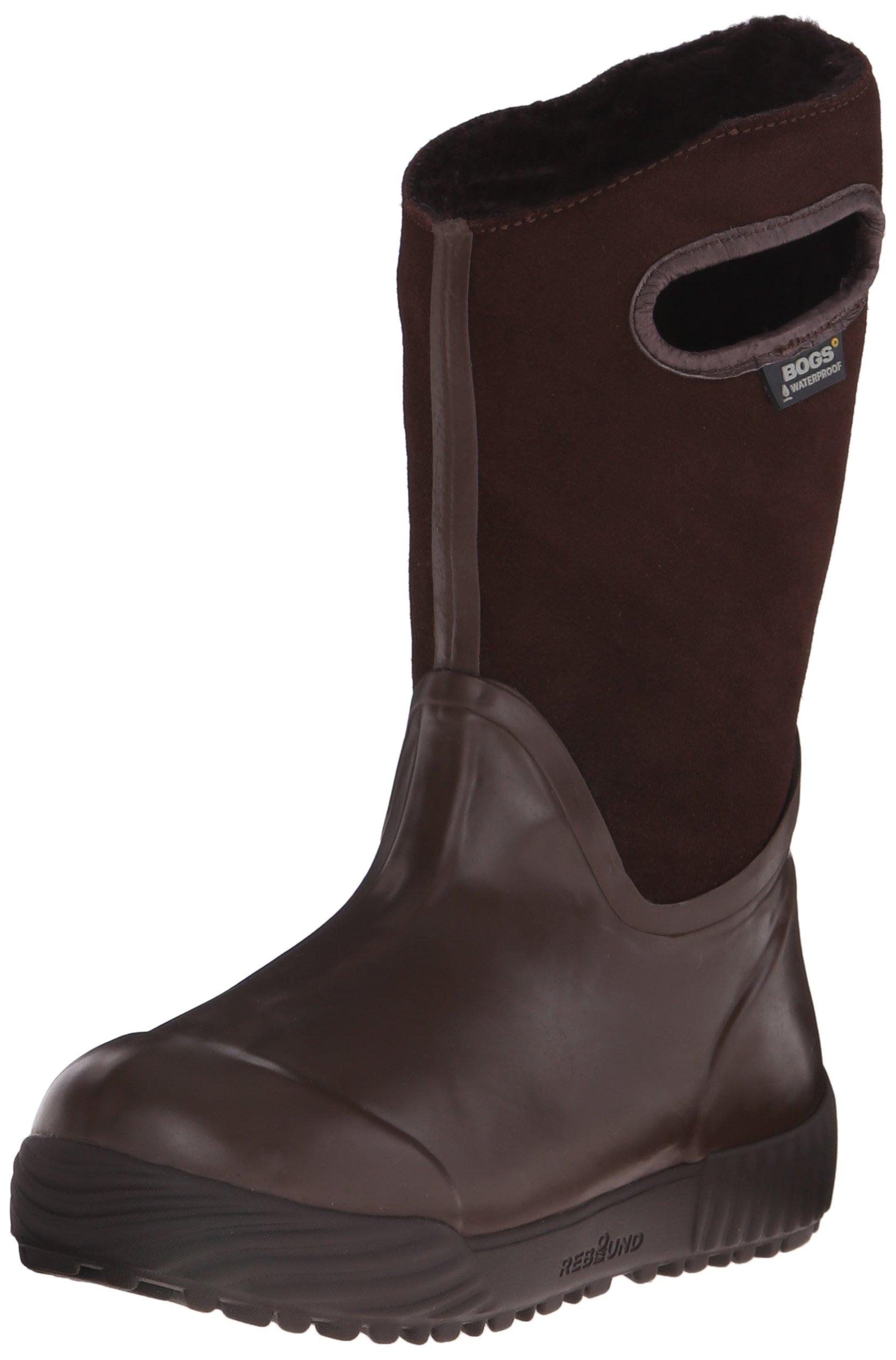 Bogs Prairie Solid Waterproof Winter and Rain Boot (Infant/Toddler/Little Kid/Big Kid), Brown, 10 M US Toddler