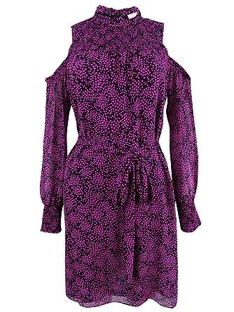 6db54ecf4d Michael Kors Michael Women s Star-Print Cold-Shoulder Dress