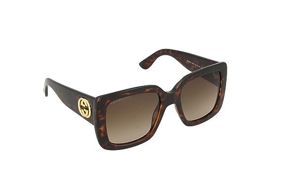 Gucci Lunette de soleil - Femme Marron Havana 53  Amazon.fr ... 5e86e1822d37