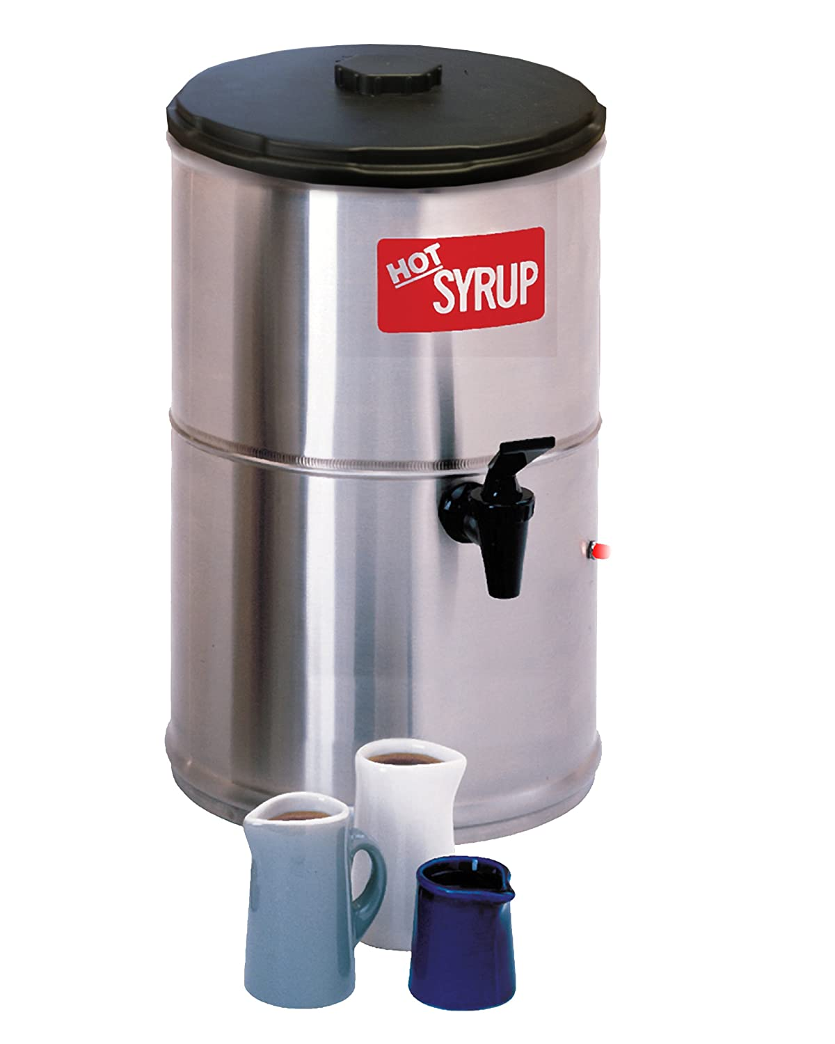 B003WRRLWI Wilbur Curtis Syrup Warmer 2.0 Gallon Syrup Container - Stainless Steel and Temperature Controls - SW-2 (Each) 71iLLQvmn2L._SL1500_