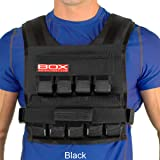 45 Lb. BOX Weighted Vest for CrossFit and Gym Bodyweight Training - Made in USA