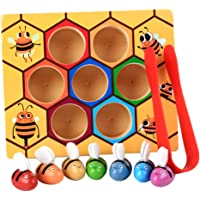 BAOBLADE Children Preschool Wooden Bee Clip Out Montessori Educational Toy B-Day Gift