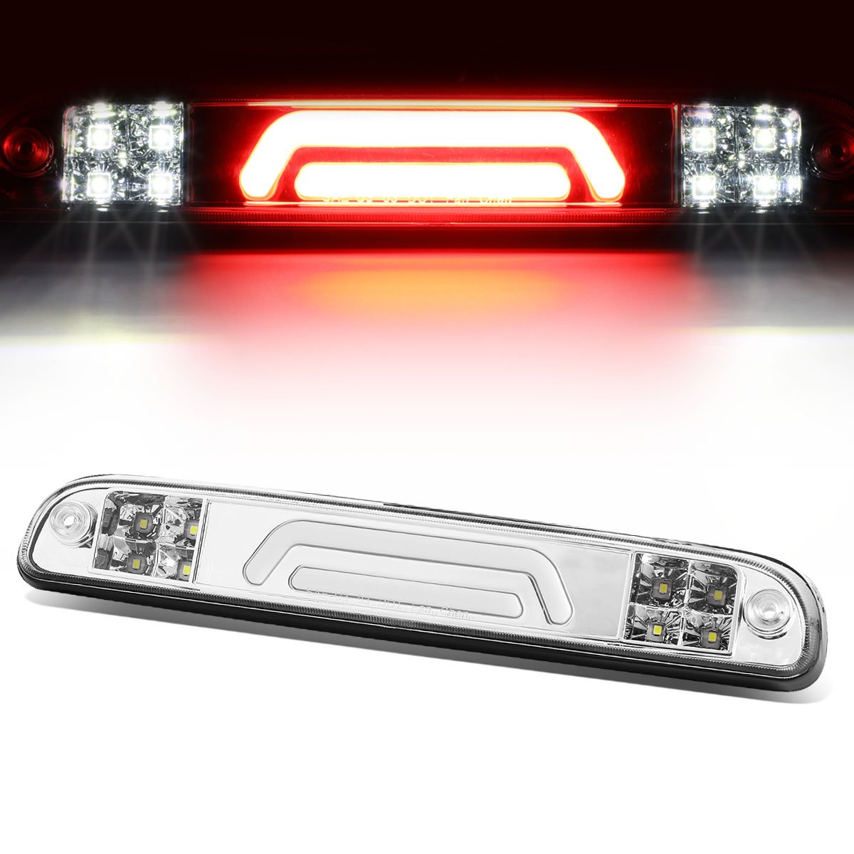 For B-Series/F-Series/Ranger 3D LED Light Bar Third Brake Lamps (Black Housing/Clear Lens) 11th 12th Auto Dynasty