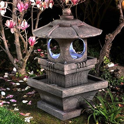 Incroyable Bond Mikio Lighted Garden Fountain