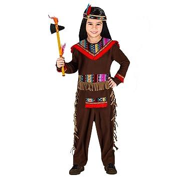 WIDMANN 01589 - Disfraz infantil de indio (116 cm), color marrón ...