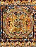Tibetan Buddhist God Chenrezig Mandala - Tibetan Thangka Painting
