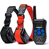 Dogs Shock Collar Training Anti-Bark Collar With Remote Rechargeable Beep Vibration Static Pets