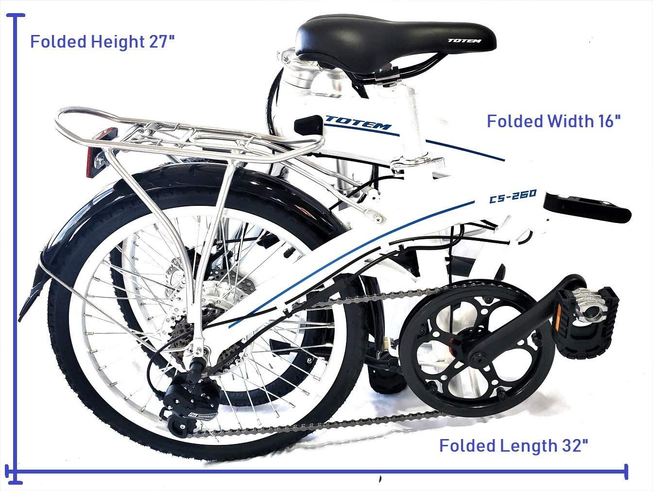 d5b16080394 Amazon.com : Totem Electric Bicycle 250W Commuter Series 20