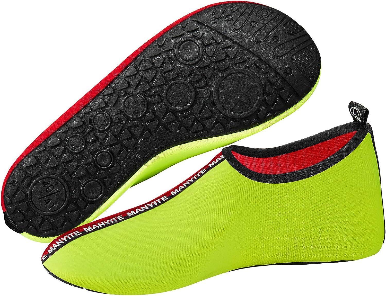 BIGU Zapatos de Agua Aqua Yoga para Mujer Hombre Ni/ños Descalzo Piel Calcetines de Buceo Nataci/ón Secado r/ápido Agua Calcetines para la Playa de nataci/ón Surf